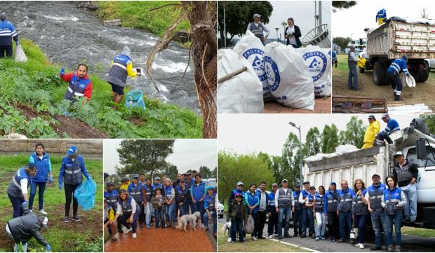Rumiñahui-Aseo, EPM participó en la limpieza del río Santa Clara