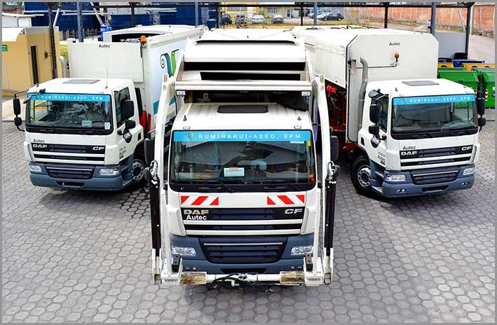 Nuevos camiones de recolección